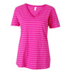 LADIES STRIPE TEE - PINK