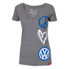 LADIES PEACE LUV VW-VNECK