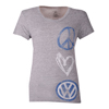 LADIES PEACE LUV VW TEE